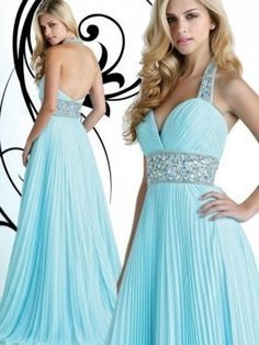 Glittering Long Mint Jewels Halter Neck Prom Dress [Halter Neck Long Evening Dress] - $170.00 : 2013 Prom Homecoming Dresses On Sale, Save 70% Off! | homecoming dresses 2013 | Scoop.it