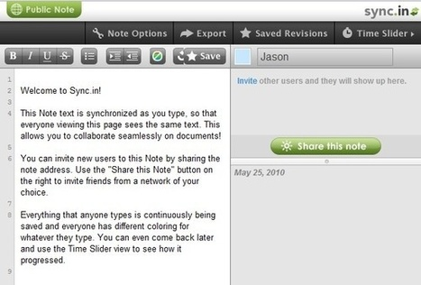Sync.in Traitement de texte collaboratif. | collaboratif | Scoop.it
