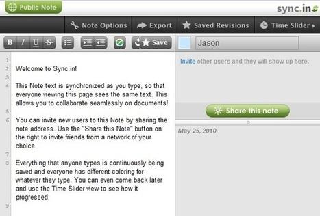 Sync.in Traitement de texte collaboratif. | Coopération, libre et innovation sociale ouverte | Scoop.it