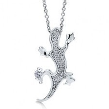 BERRICLE - Sterling Silver 925 Cubic Zirconia CZ Lizard Gecko Pendant Necklac | Berricle Necklaces | Scoop.it