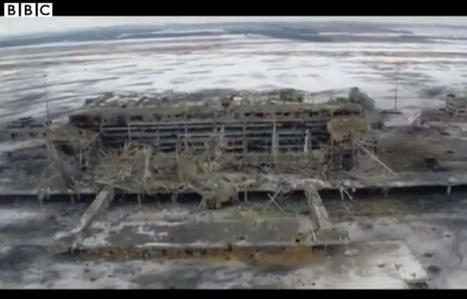 VIDEO. Ukraine: L'aéroport de Donetsk, en ruines, filmé par un drone | Drôles de drones | Scoop.it