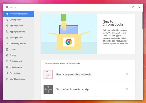 Educational Technology Guy: The Chromebook Help App - built in support on your Chromebook | Edtech PK-12 | Scoop.it