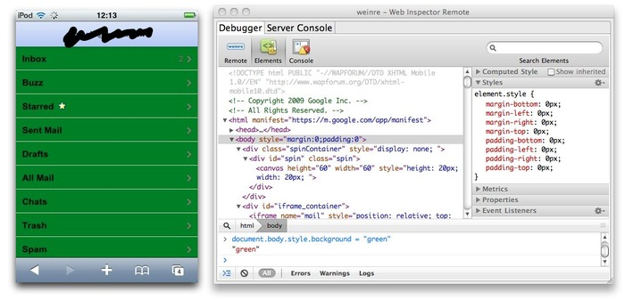 Web Inspector Remote for iOs webapp | iPhone and iPad development | Scoop.it