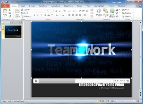Generate Customizable Flare Text Effect For PowerPoint Presentations | PowerPoint Presentation | research | Scoop.it