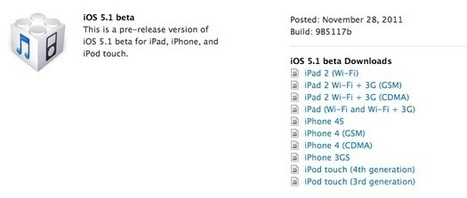 Apple gives developers an early taste of iOS 5.1 | All Technology Buzz | Scoop.it