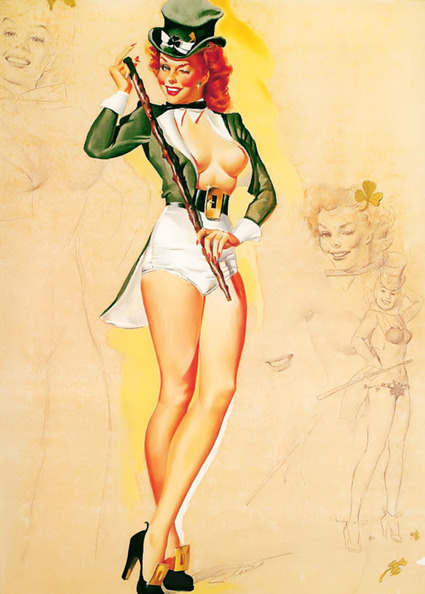 vintage everyday: Vintage St. Patrick's Day Pin-ups | Pin-Up Logos | Scoop.it
