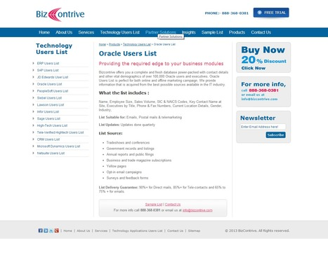 Get Accurate Oracle User List from Bizcontrive | Bizcontrive | Scoop.it