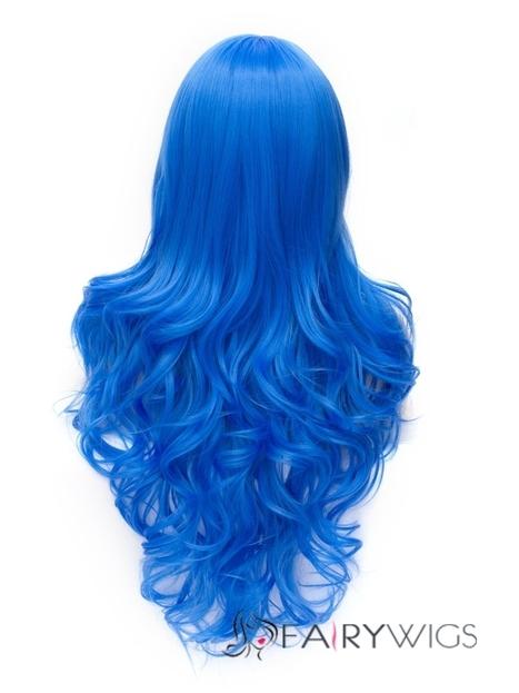 Romantic RoyalBlue wavy Side Bang Synthetic Wig : fairywigs.com | Synthetic Hair Wigs | Scoop.it