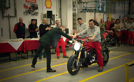 Ducati Celebrates The Start Of Production For The Monster 1200 - Motorcycle.com | Ducati & Italian Bikes | Scoop.it
