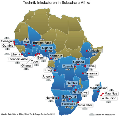 Über 100 Technologie-Inkubatoren in Subsahara-Afrika | Afrika | Scoop.it