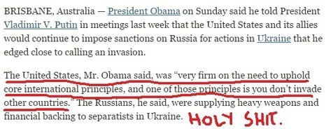 """Russian news: Obama: US """"Upholds Core International Principles...You Don't Invade Other Countries."""" Is This Real Life? - Russia Insider 