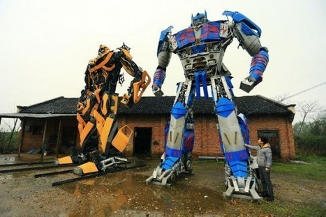 Chinese Farmers Make a Living Building Giant Transformers Models from Used Car Parts | Strange days indeed... | Scoop.it