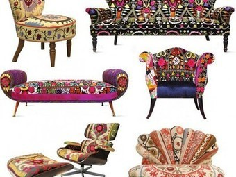 Technicolor Furniture Collection Reuses Textiles of the Silk Road | Vintage living | Scoop.it