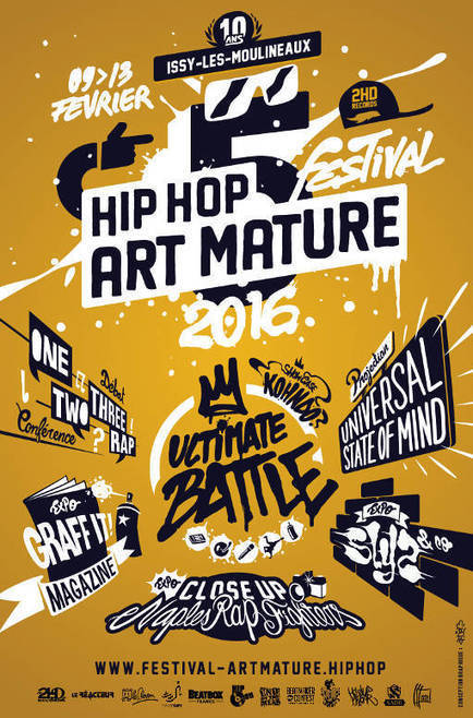 Festival Hip Hop Art'mature 2016 | Rap , RNB , culture urbaine et buzz | Scoop.it
