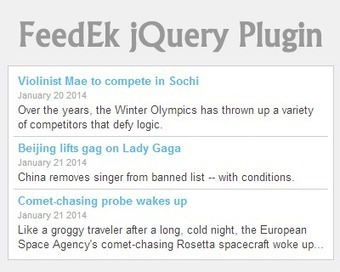 FeedEk jQuery RSS/ATOM Feed Plugin | RSS Circus : veille stratégique, intelligence économique, curation, publication, Web 2.0 | Scoop.it