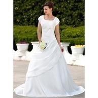 [€ 159.88] Forme Princesse Encolure carrée Traîne courte Taffeta Robe de mariée avec Plissé Emperler À ruban(s) (002001626) | fashion dress | Scoop.it