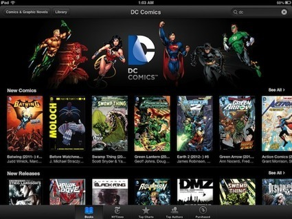 DC to Offer Entire Comic Book Library in the iBookstore - iPhone FAQ | Graphic Novels for the Librarian | Scoop.it