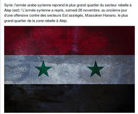 Syrie: l'armée arabe syrienne reprend le plus grand quartier du secteur rebelle à Alep | World News | Scoop.it