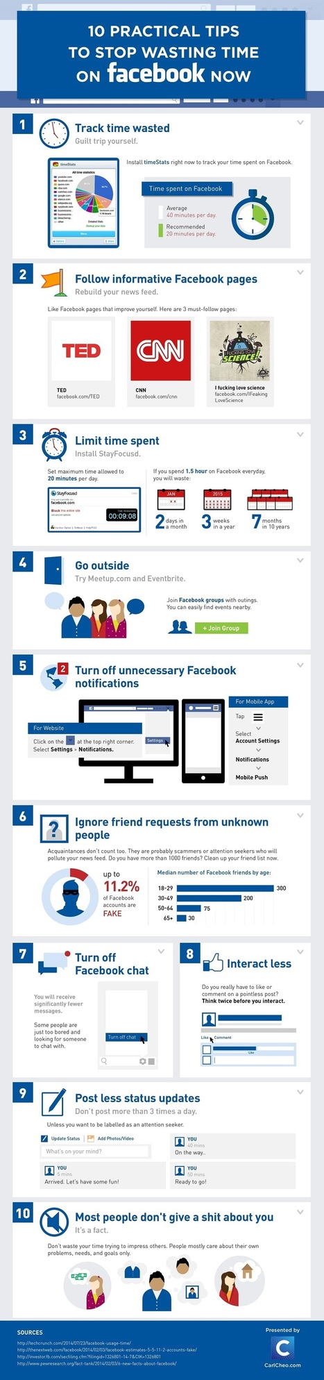 10 Tips To Stop Wasting Time on Facebook | Internet Psychology | Scoop.it