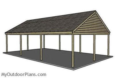 How To Build a Carport Roof | MyOutdoorPlans | Free Woodworking Plans and Projects, DIY Shed, Wooden Playhouse, Pergola, Bbq | Carport plans | Scoop.it