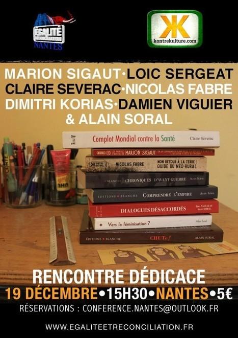 Rencontre et dédicaces à Nantes avec les auteurs de Kontre Kulture le 19 Décembre   ACTUALITÉ   Scoop.it