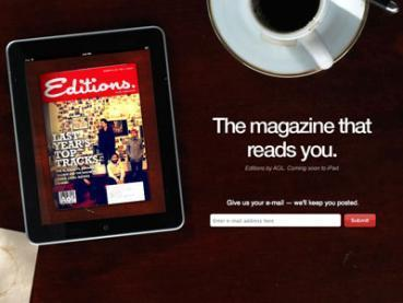 """AOL Is Launching A Flipboard-Killer, """"Editions"""" 