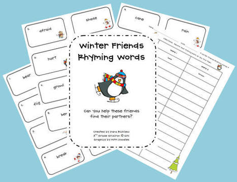 Winter Friends Rhyming Words Center | Seasonal Freebies for Teachers | Scoop.it