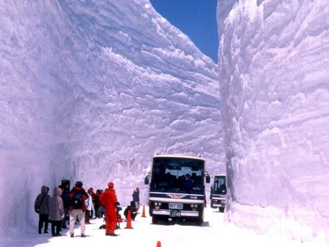 Snow canyon roads in Japan | inquietario* | Scoop.it