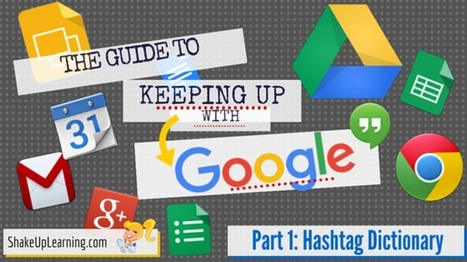 The Guide to Keeping Up with Google – Part 1: The #Google Hashtag Dictionary – Shake Up Learning | Teaching and Learning software and topics | Scoop.it