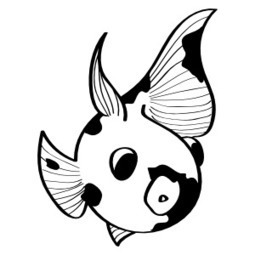 Sticker poisson-luby0001 - stickers Luby - stickers muraux - sticker autocollants muraux décoratifs - pochoirs | stickers autocollants décoratifs | Scoop.it