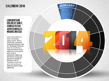 2014 PowerPoint Calendar   Diagrams and Charts for Presentations   Scoop.it