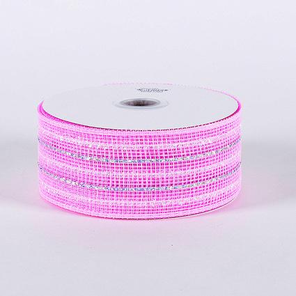 Light Pink Laser Metallic Mesh Ribbon 25 Yards | FuzzyFabric | Scoop.it