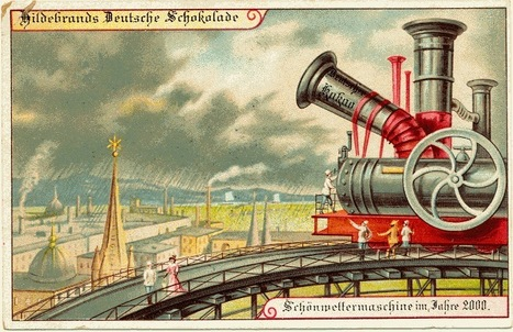 En 1900, des cartes postales imaginent l'an 2000 | Histoire & Cie | Scoop.it