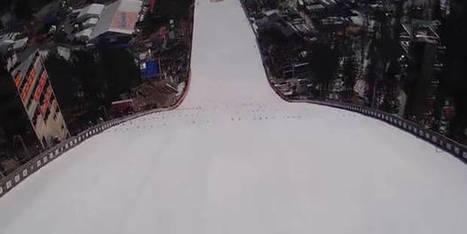 Un saut à ski à 237 mètres en caméra embarquée ! | Neige et Granite | Scoop.it