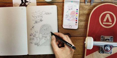Smart Writing Set de Moleskine pour numériser ses notes et ses dessins - Web des Objets | Gadgets Connectés | Scoop.it