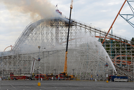 Six Flags' Iconic Colossus Roller Coaster Catches Fire, Portion Collapses | enjoy yourself | Scoop.it