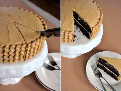 Double-Layer Chocolate Cake with Coffee Buttercream   My Vegan recipes   Scoop.it
