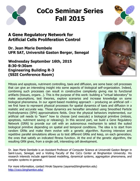 First CoCo Seminar by Jean Marie Dembele on Sep. 16th | Center for Collective Dynamics of Complex Systems (CoCo) | Scoop.it