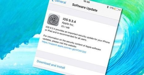 iOS 9.3.4 released, fixing critical security hole. Update now | #Apple #Updates #CyberSecurity #NobodyIsPerfect  | Apple, Mac, MacOS, iOS4, iPad, iPhone and (in)security... | Scoop.it