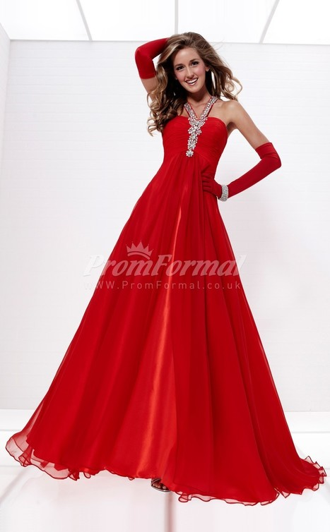 New Arrive Chiffon One Shoulder A-line Sweep Train Evening Dress(PRJT04-0560) - promformal.co.uk | Prom & Formal | Scoop.it