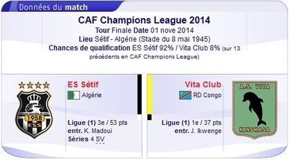 Regarder Match Sétif vs Vita Club en direct streaming sur bein sport le 01-11-2014-bein sport | bein sports arabia | Scoop.it