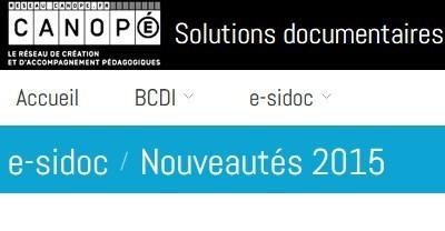 e-sidoc - Nouveautés 2015 | Culture informationnelle et CDI | Scoop.it