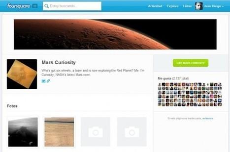 Curiosity, de la NASA, hace checkin en Marte usando FourSquare.-   Google+, Pinterest, Facebook, Twitter y mas ;)   Scoop.it