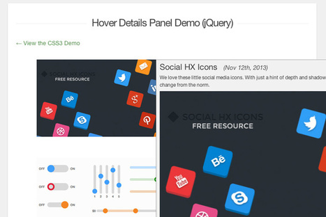 Building a Hover Detail Panel With CSS3 & jQuery | Design Shack | Daily Magazine | Scoop.it