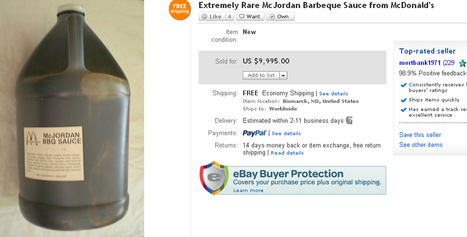 'Rare' McJordan BBQ sauce sells for nearly $10,000 | It's Show Prep for Radio | Scoop.it