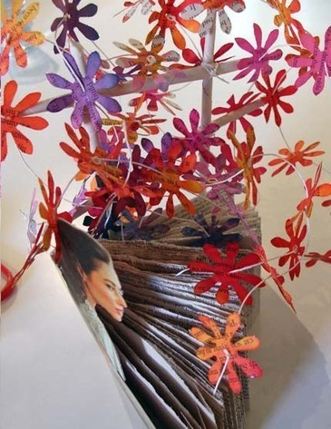 Altered Book Challenge   isabell buenz   Books On Books   Scoop.it