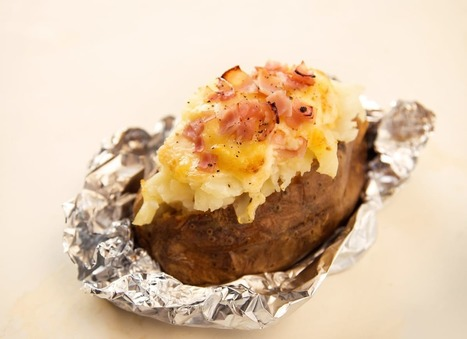 Baked Potato Stuffed with Ham and Melted Gruyère — Miracle Meals | ♨ Family & Food ♨ | Scoop.it