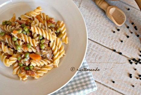 Ricettosando - ricette di cucina e chiacchiere: Pasta con ragù bianco di prosciutto e piselli | Ricettosando | Scoop.it