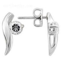 Sterling Silver Cubic Zirconia Earrings   Stainless Steel Blue Rings   Scoop.it