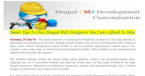 Smart Tips To Hire Drupal Web Designers You Can't Afford To Miss | Shanu | Scoop.it